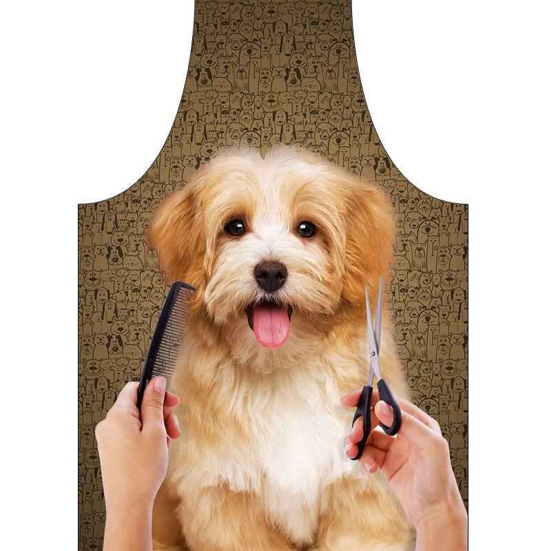 Avental Para Petshop Impermeável Dog Marrom  - RECANTO DA COSTURA