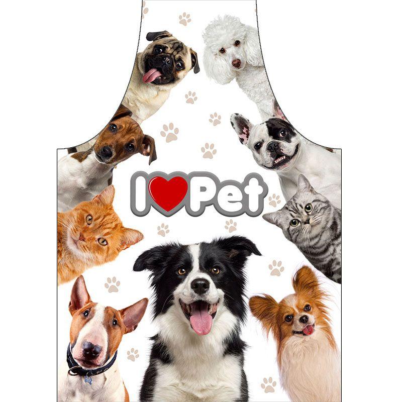 Avental Para Petshop Impermeável I love Pet  - RECANTO DA COSTURA