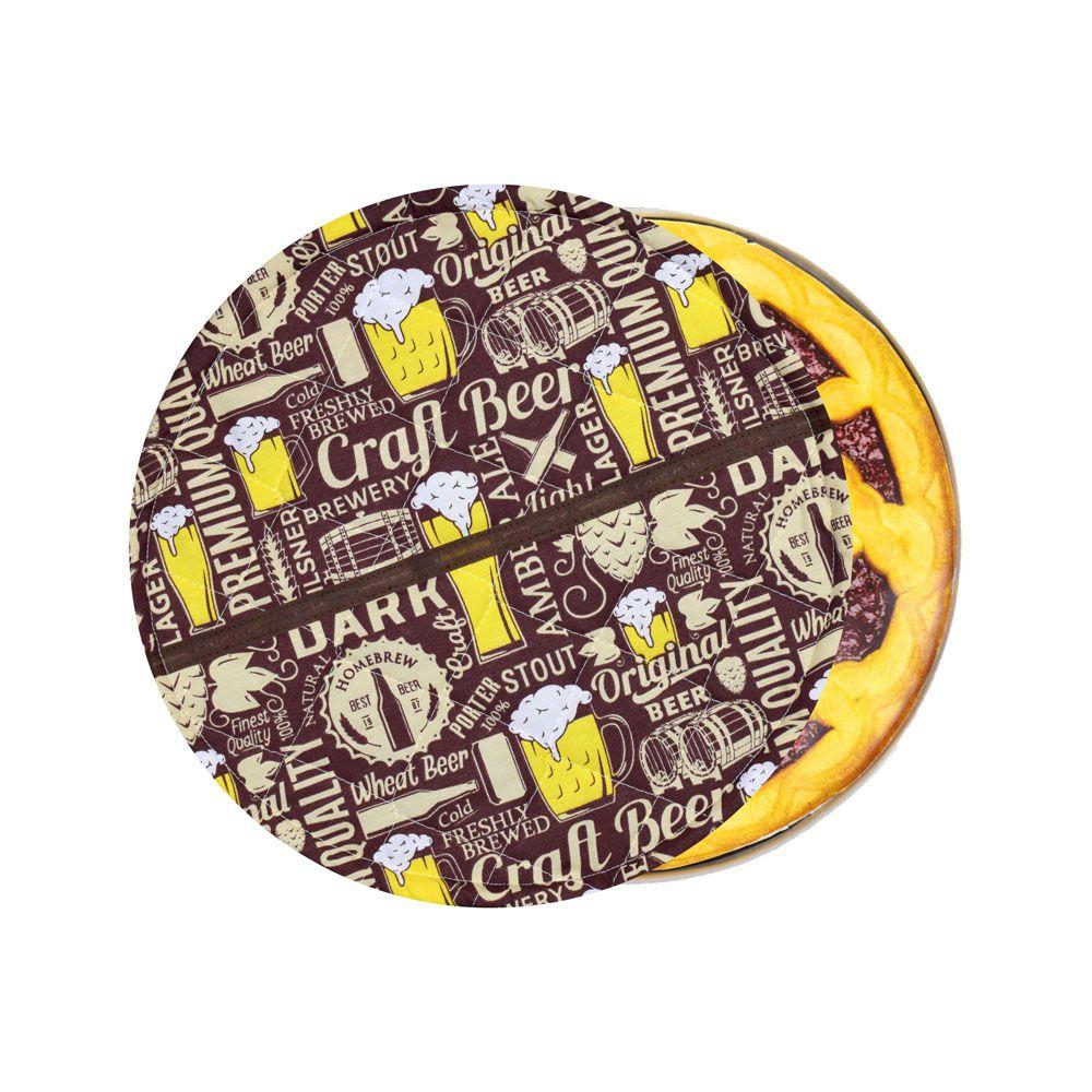 Capa De Assadeira Redonda Beer  - RECANTO DA COSTURA
