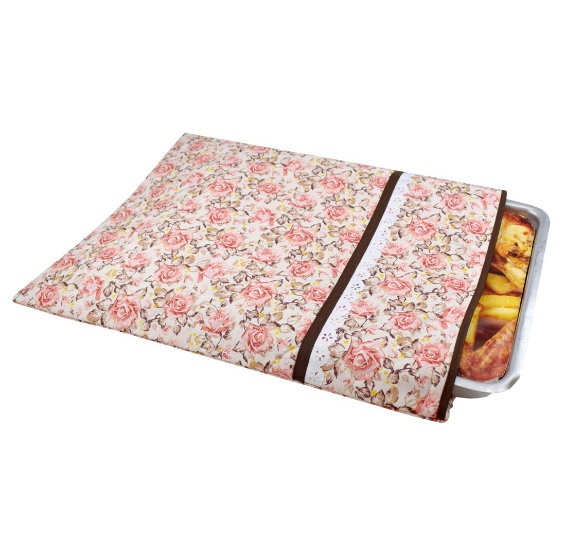 Capa De Assadeira Retangular Grande Floral  - RECANTO DA COSTURA