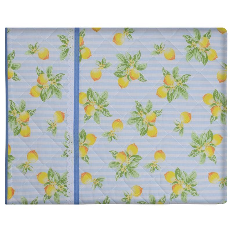 Capa De Assadeira Retangular Grande  Térmica Azul Limão  - RECANTO DA COSTURA