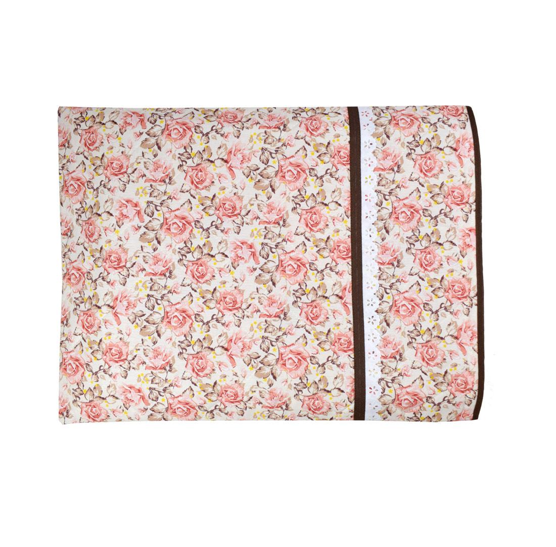 Capa De Assadeira Retangular Grande  Térmica Rosa Floral   - RECANTO DA COSTURA