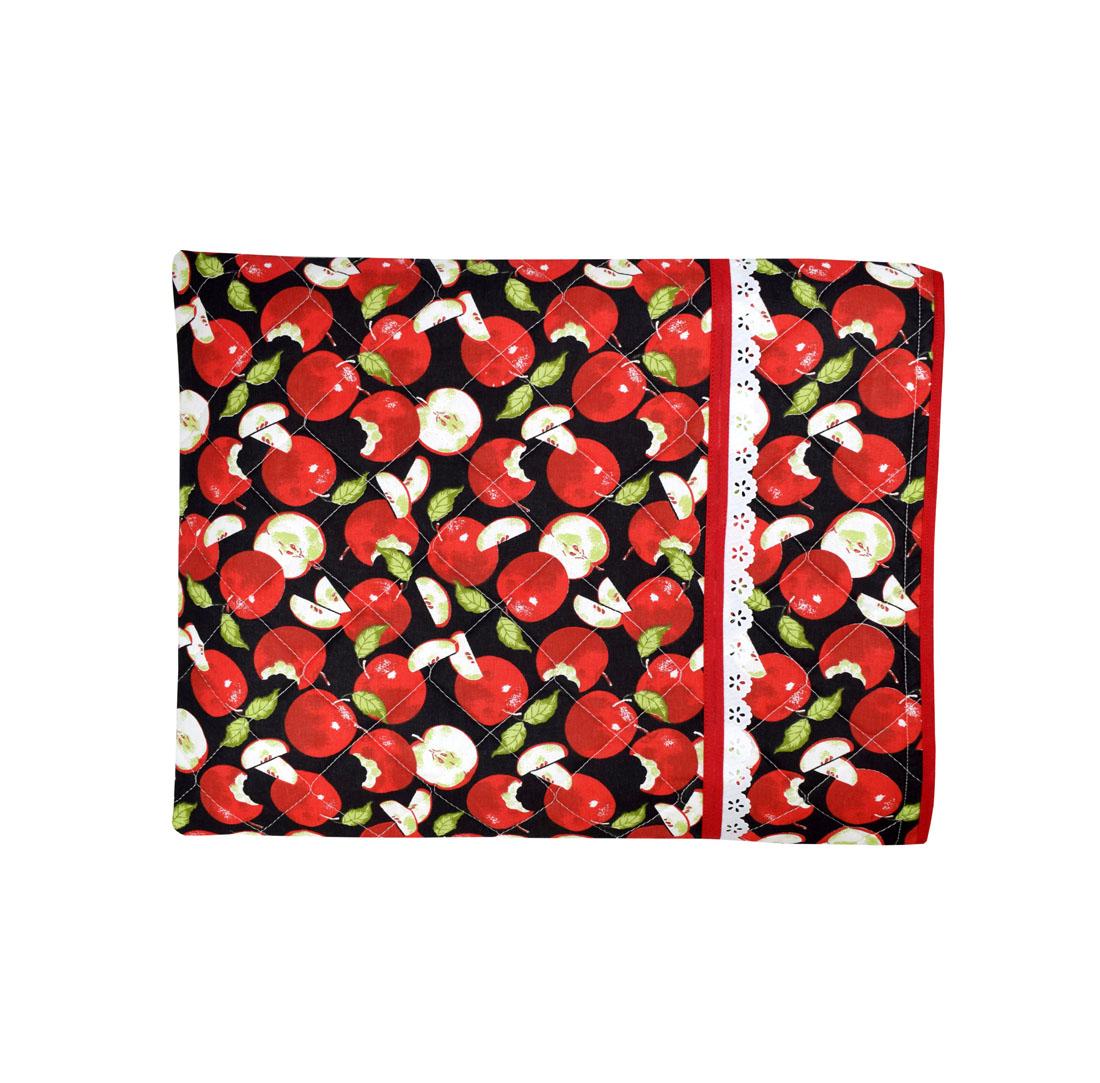 Capa De Assadeira Retangular Grande  Térmica Vermelho Maçã  - RECANTO DA COSTURA