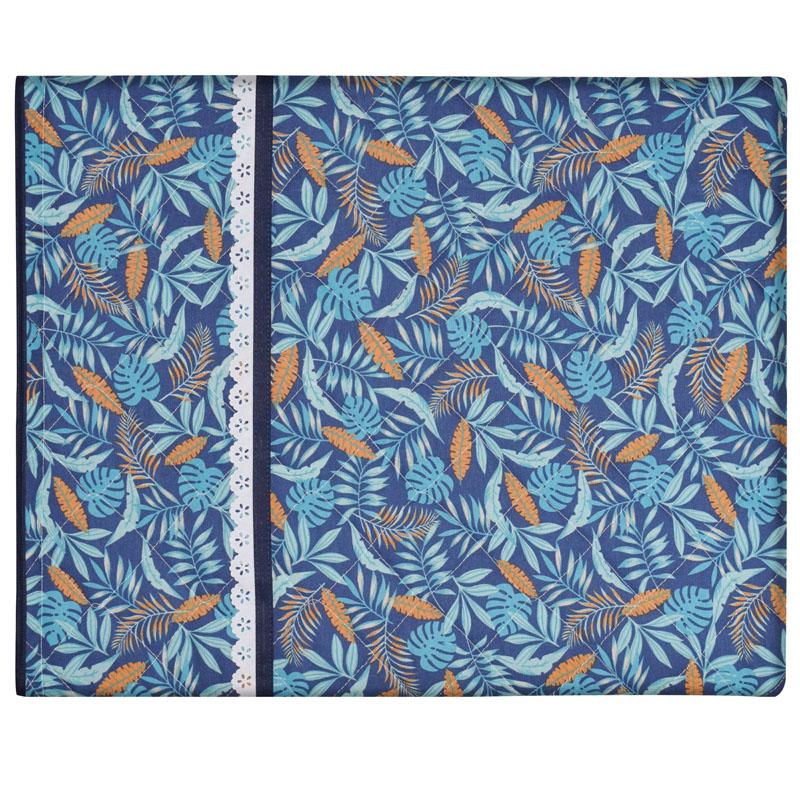 Capa De Assadeira Retangular Média Térmica Azul Tropical Blue  - RECANTO DA COSTURA