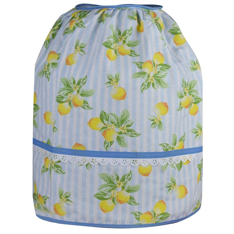 Capa De Botijão De Gás Azul Limão  - RECANTO DA COSTURA