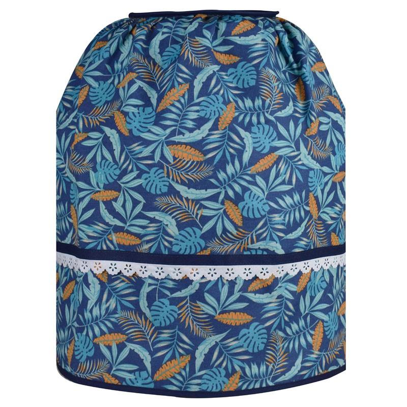 Capa De Botijão De Gás Azul Tropical  - RECANTO DA COSTURA