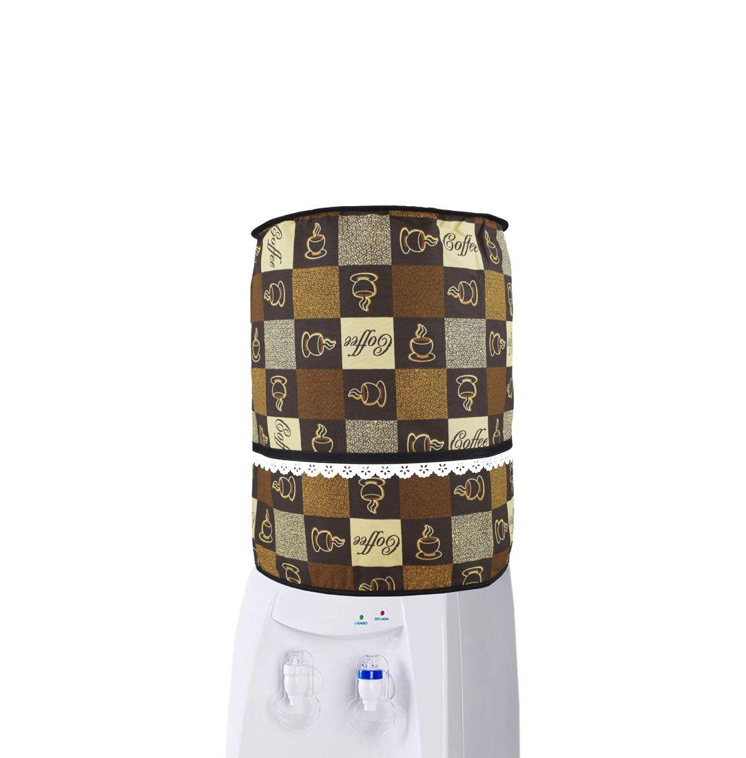 Capa De Galão De Água 10l Café  - RECANTO DA COSTURA