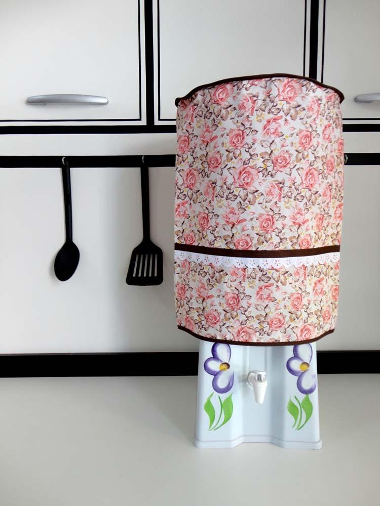 Capa De Galão De Água 10l Floral  - RECANTO DA COSTURA