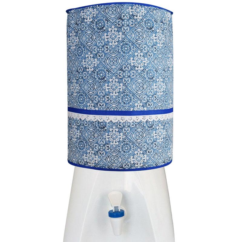 Capa De Galão De Água 20l Azulejo  - RECANTO DA COSTURA