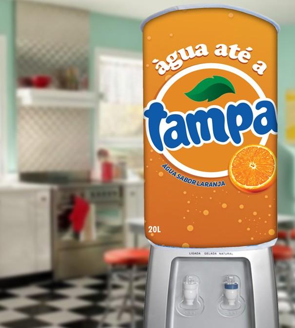 Capa De Galão De Água Divertida 20l: Água Até A Tampa  - RECANTO DA COSTURA