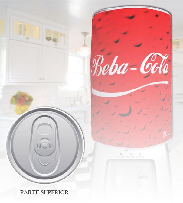 Capa De Galão De Água Divertida 20l: Beba Cola  - RECANTO DA COSTURA