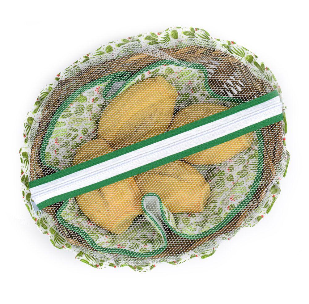 Cesta De Pão De Bambu Cacto  - RECANTO DA COSTURA