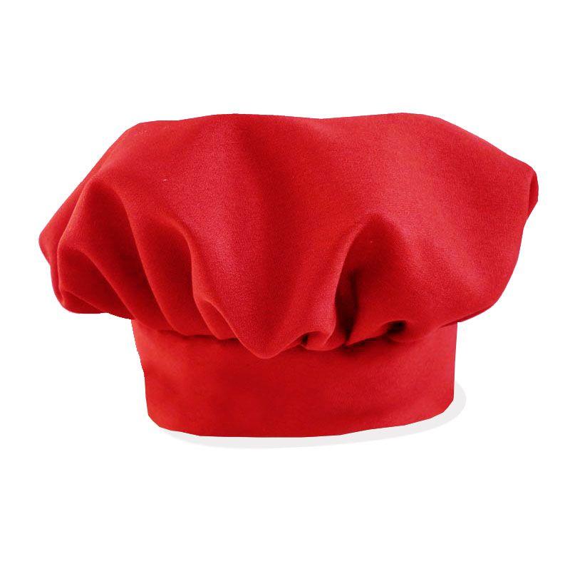 Chapéu De Cozinheiro Mestre Cuca Vermelho  - RECANTO DA COSTURA