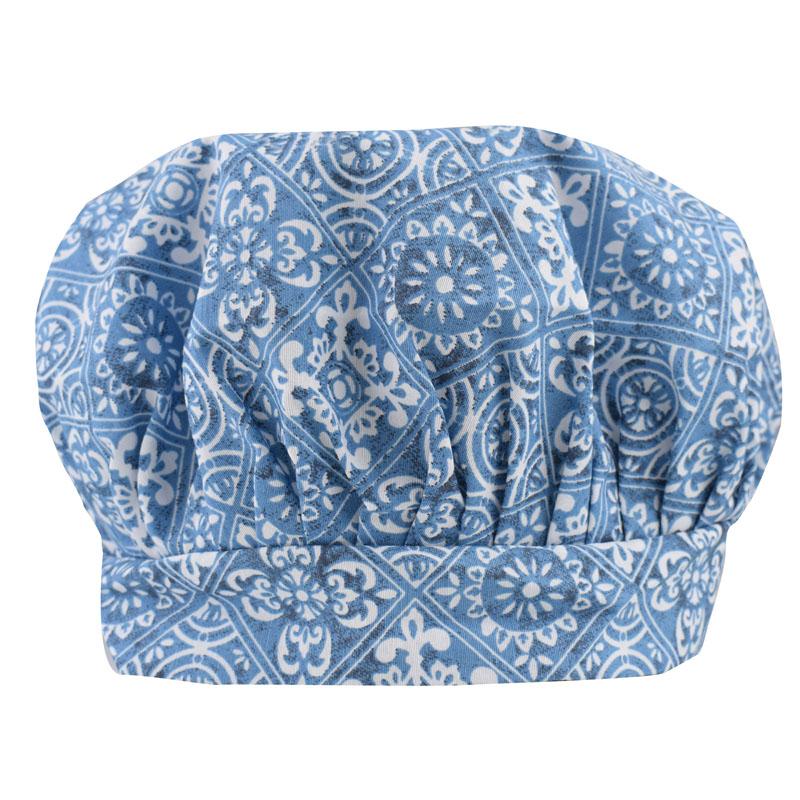 Chapéu Touca De Cozinheira Azulejo  - RECANTO DA COSTURA