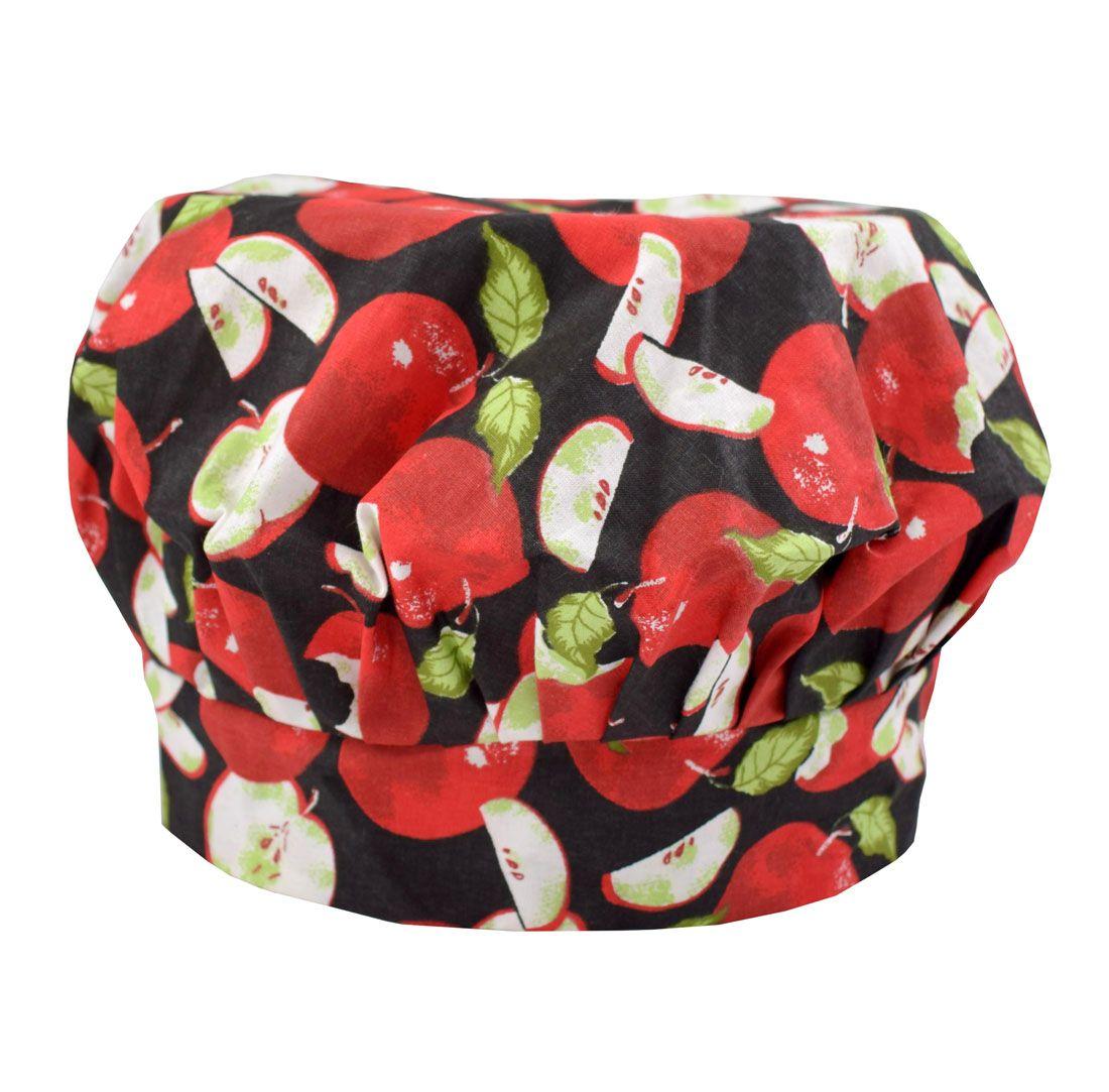 Chapéu Touca De Cozinheira Maçã  - RECANTO DA COSTURA