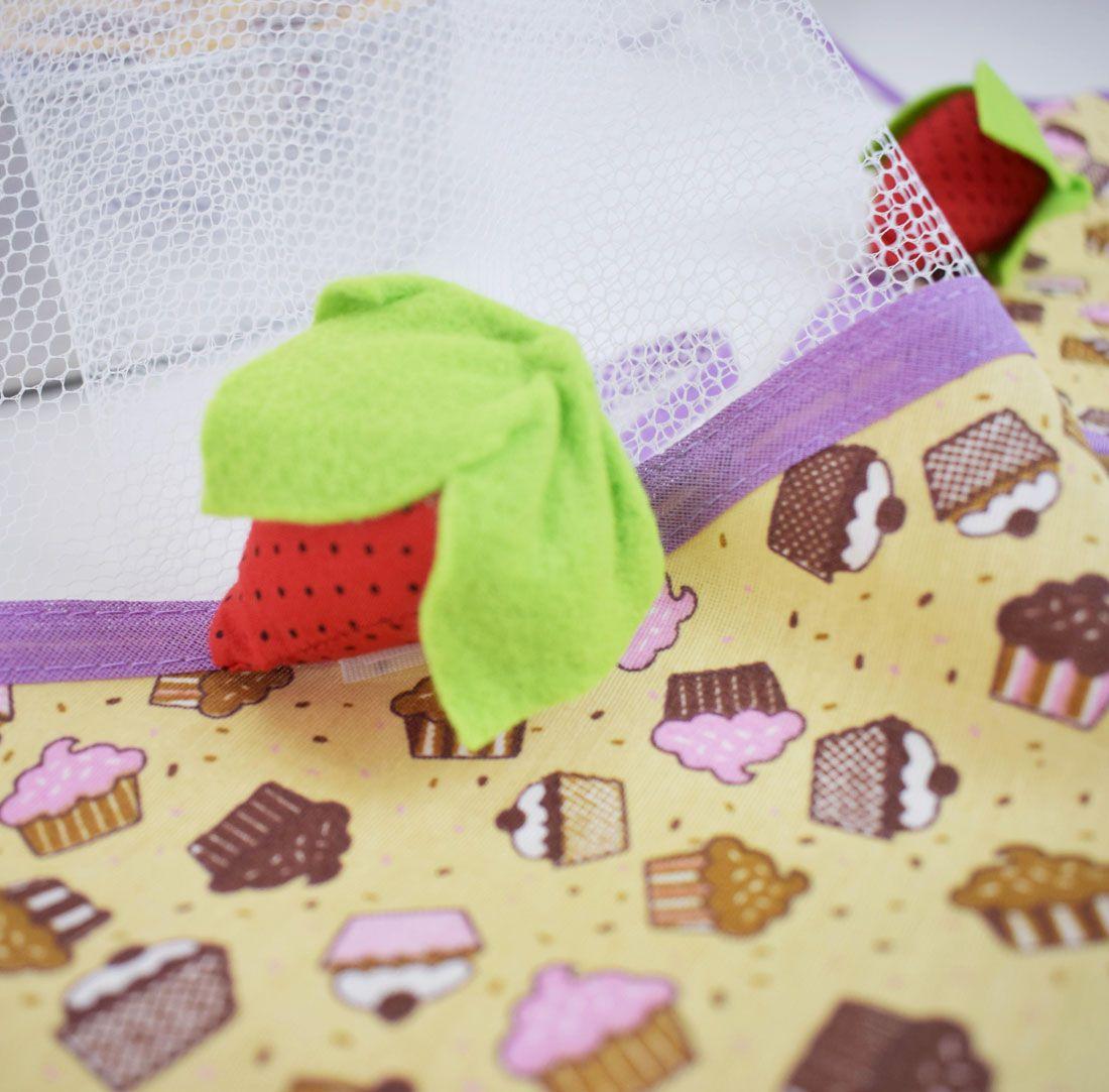 Cobre Alimento 75cm X 75cm Cupcake  - RECANTO DA COSTURA