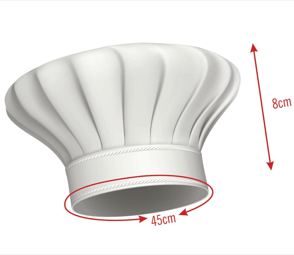 Avental Infantil Com Touca De Cozinheiro Preto Oxford  - RECANTO DA COSTURA