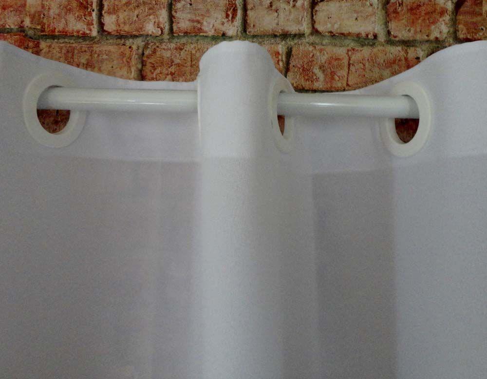 Cortina De Cozinha Com Barrado Estampado { 2m X 1,20m Preto E Branco } Com Abraçadeira  - RECANTO DA COSTURA