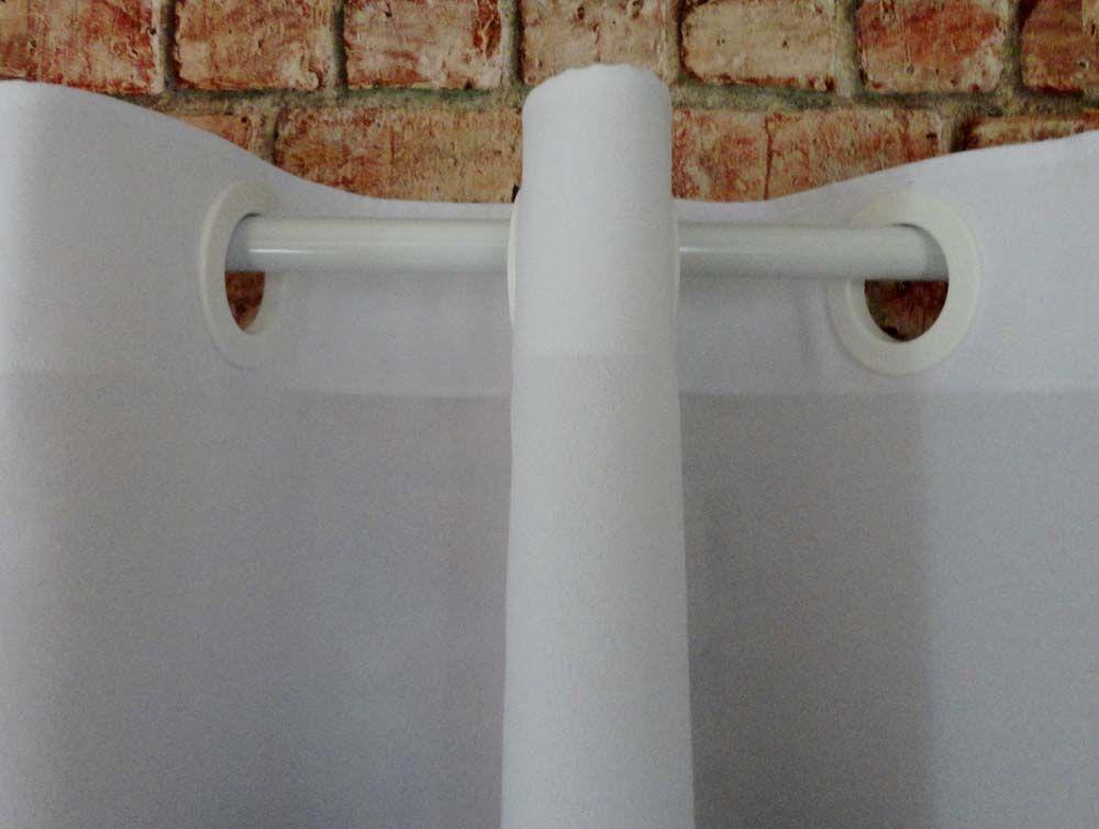 Cortina De Cozinha Com Barrado Estampado { 2m X 1,50m Preto E Branco} Com Abraçadeira  - RECANTO DA COSTURA