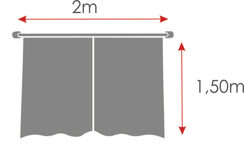 Cortina De Cozinha Estampada { 2m X 1,50m Patchwork } Com Abraçadeira  - RECANTO DA COSTURA