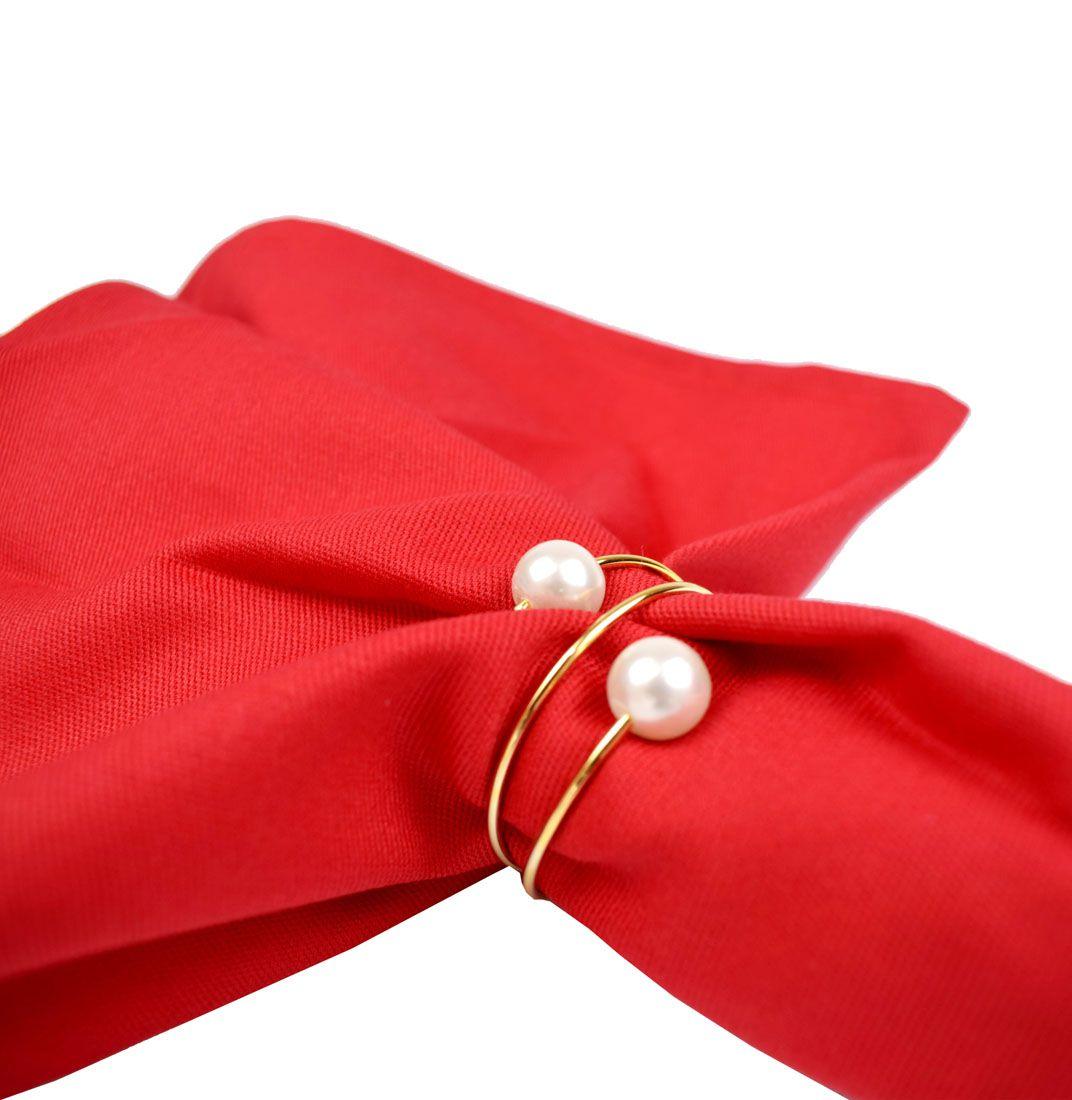 Guardanapo De Mesa Natal 4 Unidades Vermelho  - RECANTO DA COSTURA