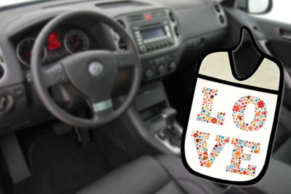 Lixinho E Porta Treco Para Carro: Love  - RECANTO DA COSTURA