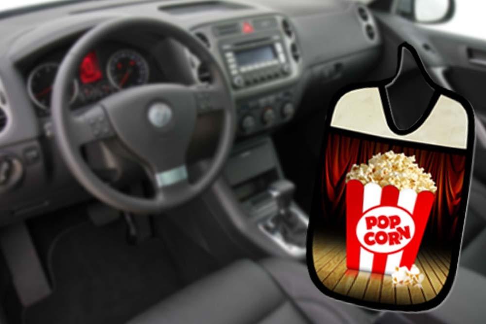 Lixinho E Porta Treco Para Carro: Popcorn  - RECANTO DA COSTURA