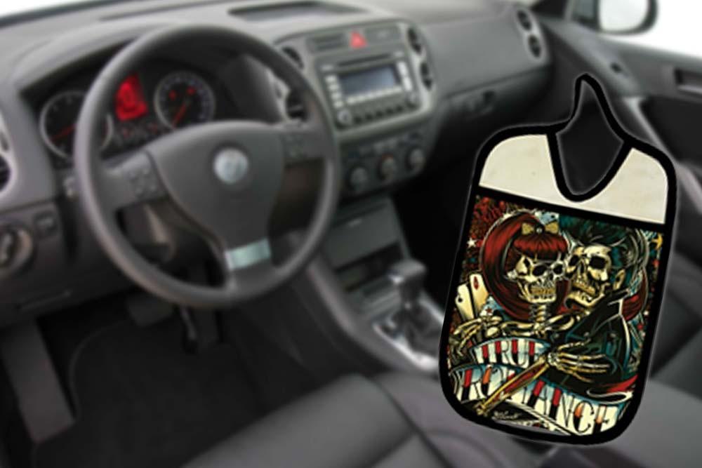 Lixinho E Porta Treco Para Carro: Rock  - RECANTO DA COSTURA