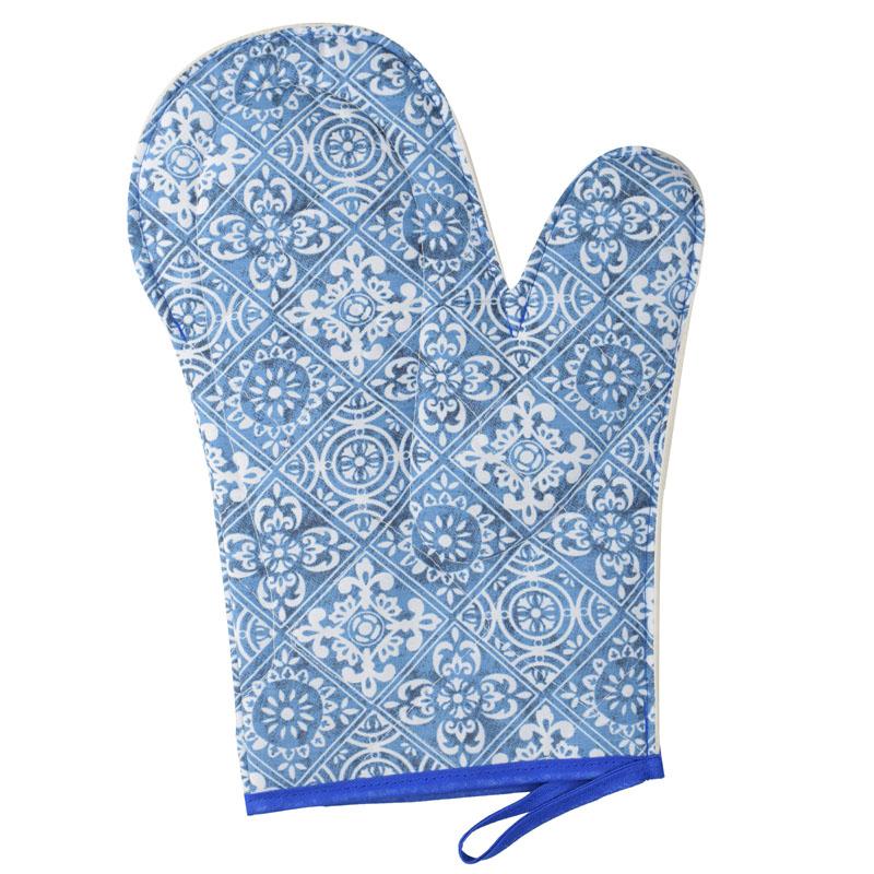 Luva De Cozinha Térmica: Azul Azulejo  - RECANTO DA COSTURA
