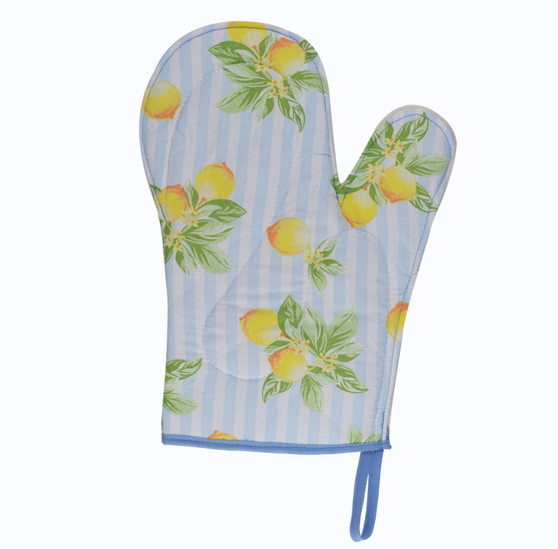 Luva De Cozinha Térmica: Azul Limão  - RECANTO DA COSTURA