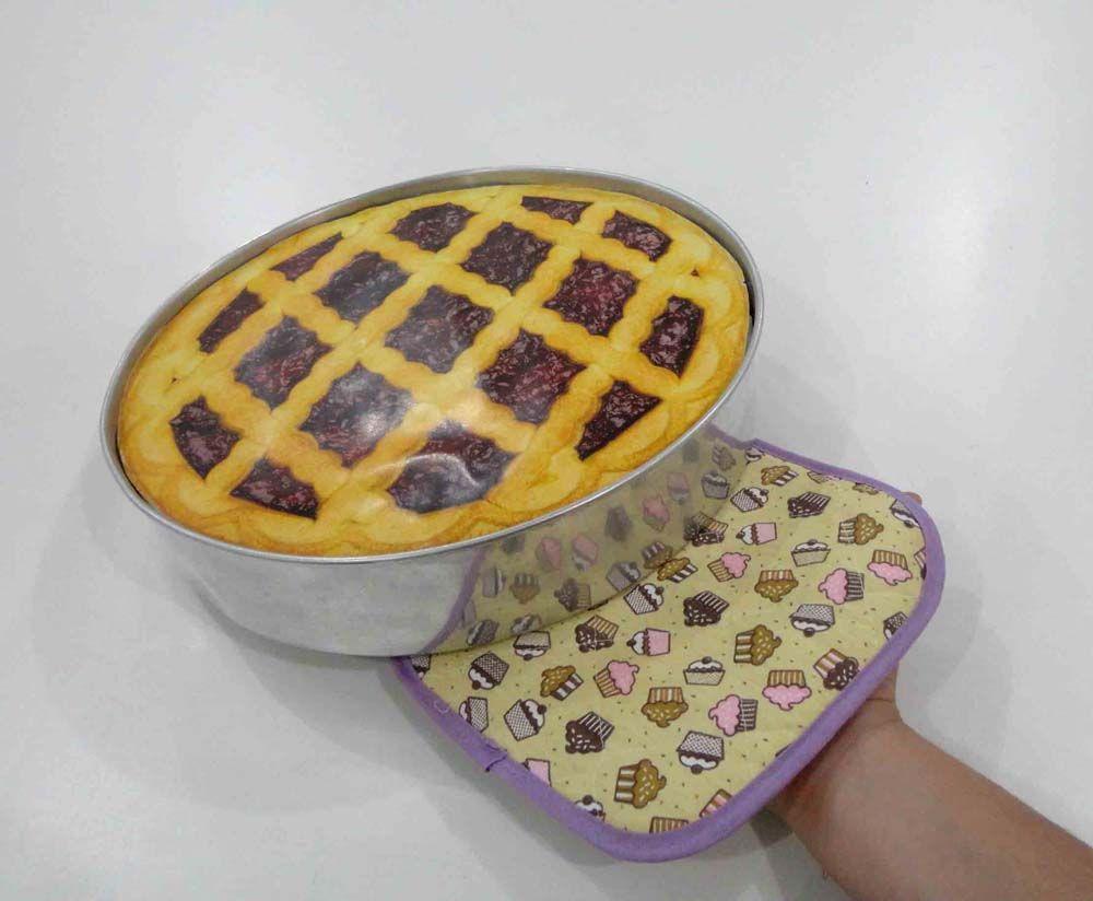 Luva De Cozinha Térmica E Pegador De Panela Cupcake  - RECANTO DA COSTURA
