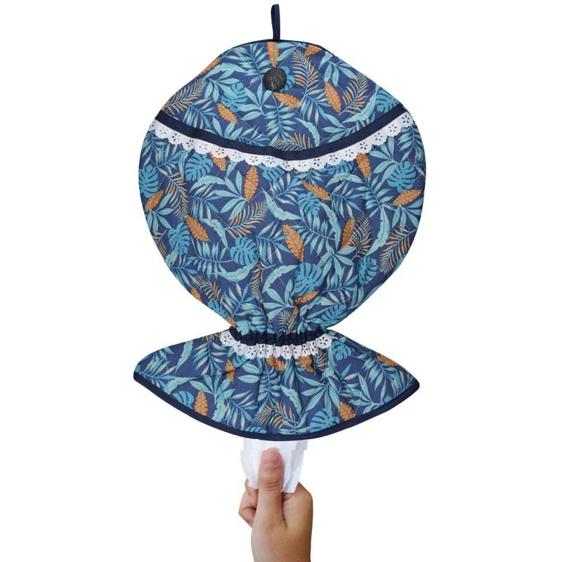 Puxa Saco Estampado Peixe® Azul Tropical  - RECANTO DA COSTURA