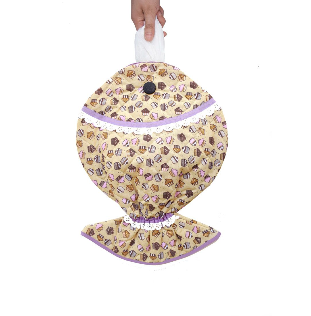 Puxa Saco Estampado Peixe® Cupcake  - RECANTO DA COSTURA