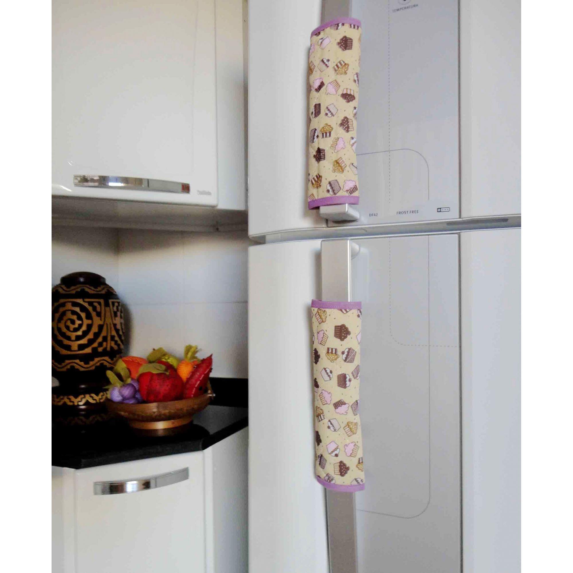 Puxador Grande De Geladeira Ou Armário Cupcake 2 Unidades  - RECANTO DA COSTURA