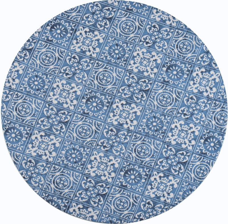 Sousplat Azul Azulejo 2 peças  - RECANTO DA COSTURA