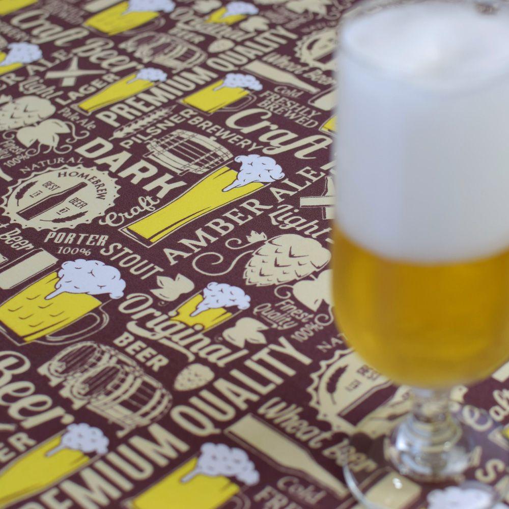 Toalha De Mesa Quadrada Beer 1,50m X 1,50m  - RECANTO DA COSTURA