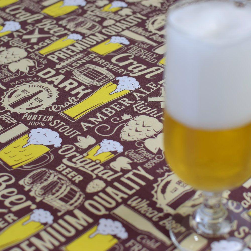 Toalha De Mesa Redonda Beer  1,50m  - RECANTO DA COSTURA