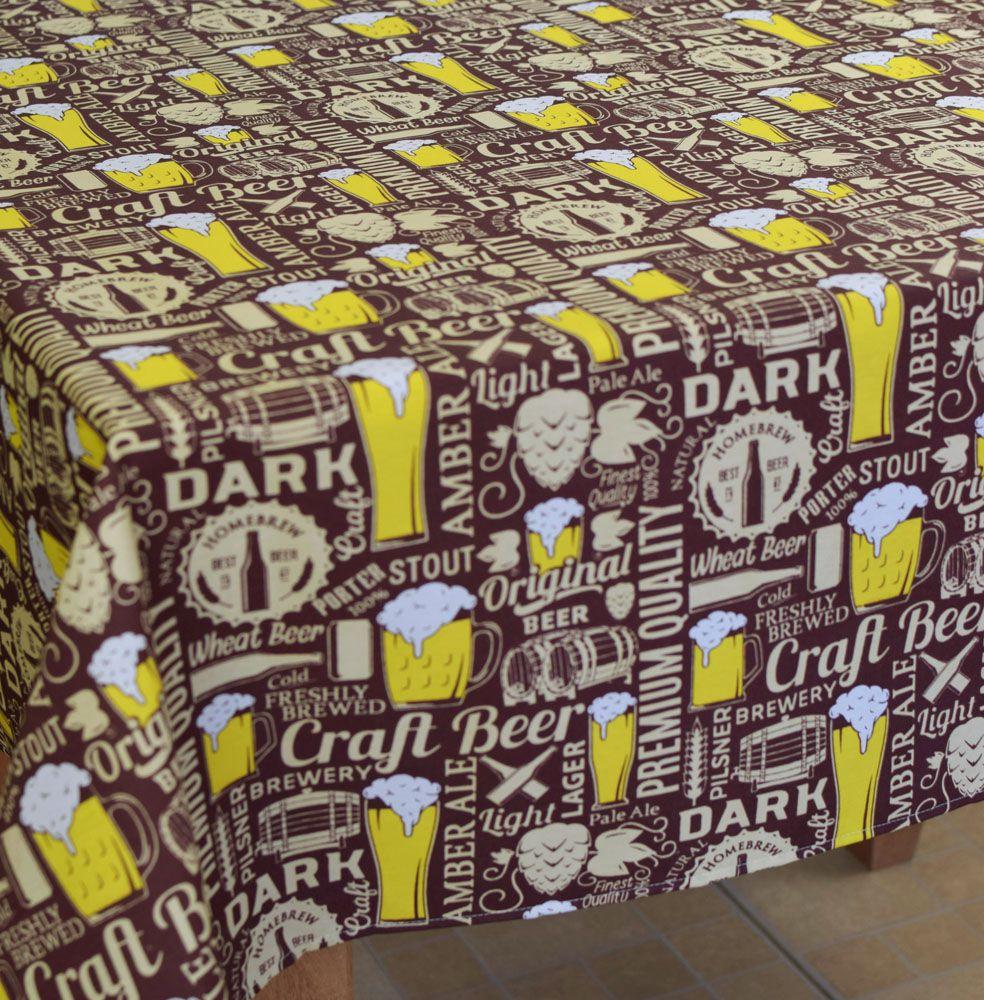Toalha De Mesa Retangular Beer 2,80m X 1,50m  - RECANTO DA COSTURA