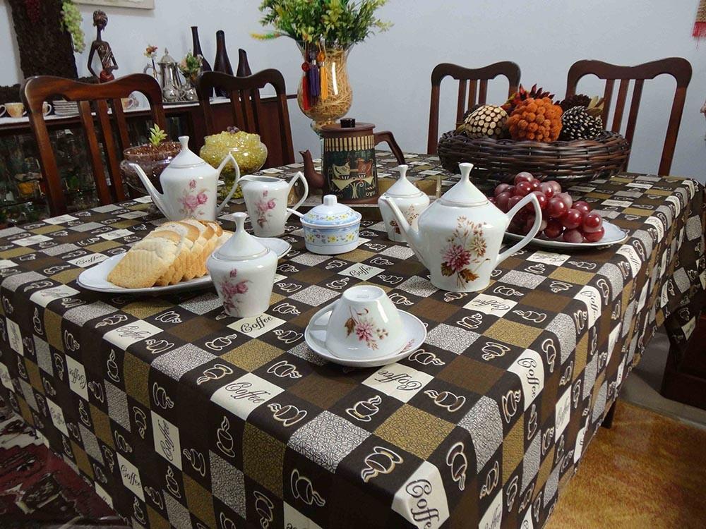 Toalha De Mesa Retangular Café 2,80m X 1,50m  - RECANTO DA COSTURA