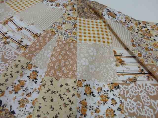 Toalha De Mesa Retangular Patchwork 2,20m X 1,50m  - RECANTO DA COSTURA
