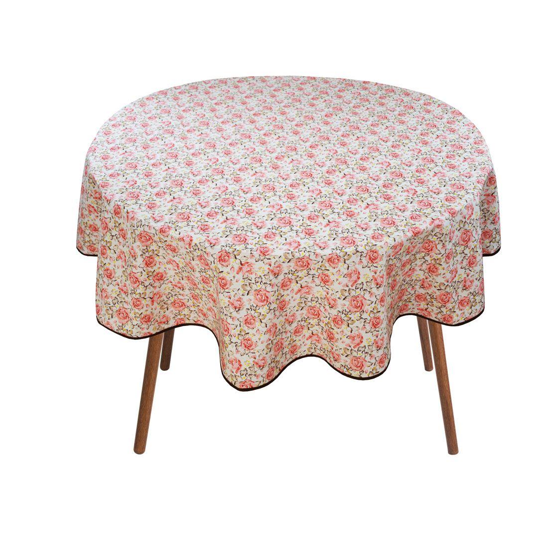 Toalha Para Mesa Redonda Floral 4 Cadeiras 1,50m De Diâmetro  - RECANTO DA COSTURA