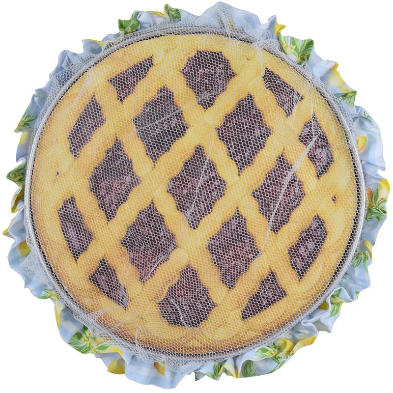 Tule De Assadeira Azul Limão  - RECANTO DA COSTURA