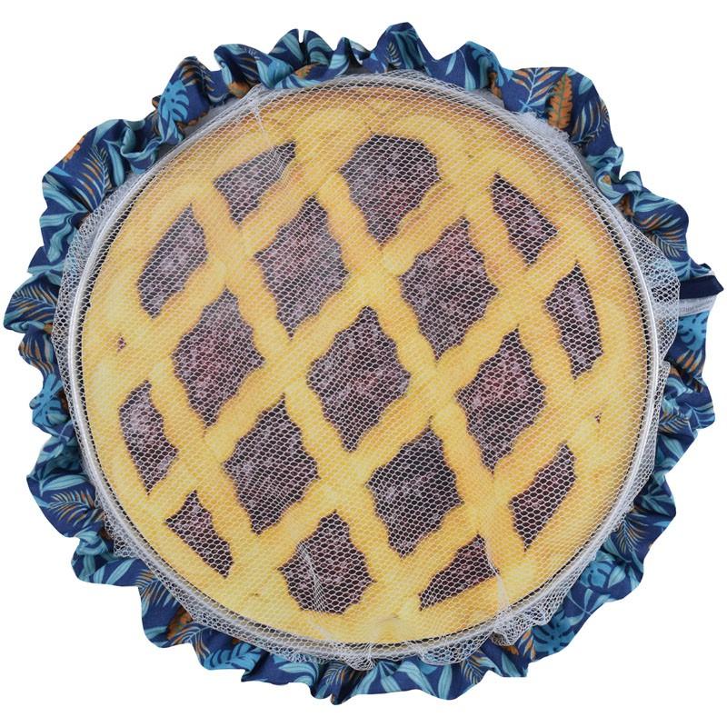 Tule De Assadeira Rendinha cobre comida de filó Azul Tropical  - RECANTO DA COSTURA