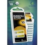 Duracell ActivAir 10 / PR70 - 10 Cartelas - 60 Baterias para Aparelho Auditivo