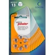 ExtraPower A13 / PR48 - 10 Cartelas - 60 Baterias para Aparelho Auditivo