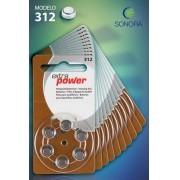 ExtraPower A312 / PR41 - 10 Cartelas - 60 Baterias para Aparelho Auditivo