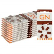 GN RESOUND 312 / PR41 - 10 Cartelas - 60 Baterias para Aparelho Auditivo