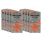 Rayovac 13 / PR48 - 10 Cartelas - 60 Baterias para Aparelho Auditivo