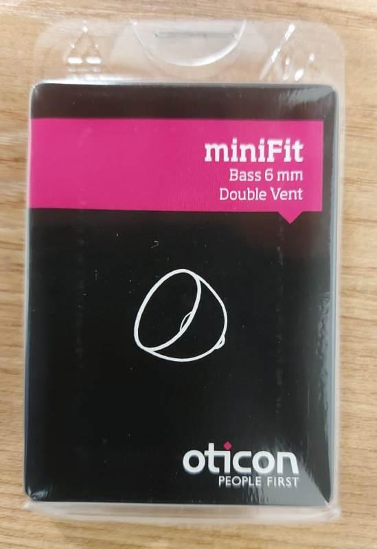 DOMO MINIFIT BASS 6 MM DOUBLE VENT - 10 PCS - OTICON