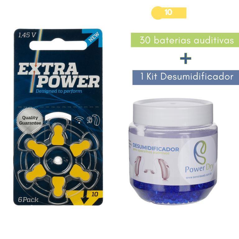 EXTRAPOWER 10 / PR70 - 5 Cartelas + Kit desumidificador PowerDry